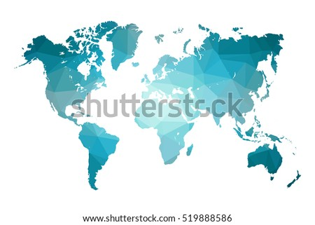 Round world map download free vector art stock graphics images low poly map of world world map made of triangles blue polygonal shape vector gumiabroncs Images
