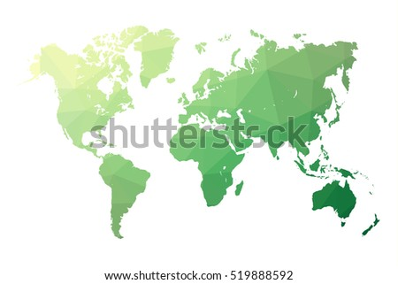 9 stylish vector world map vector download free vector art stock low poly map of world world map made of triangles green polygonal shape vector gumiabroncs Images