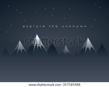 low poly mountains night