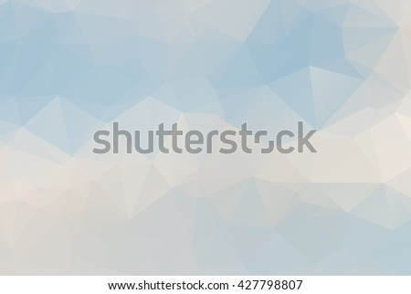 low poly of white cloud with