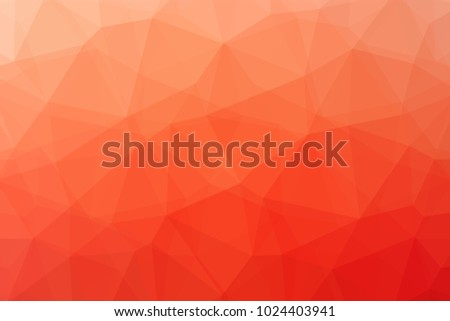 Low poly pattern design. Large cells. Vector polygonal background with light pink to deep red gradient of low poly art. Multicolored low poly pattern in geometric style for your poster.
