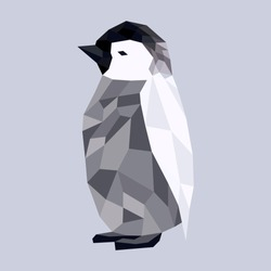 Low poly penguin