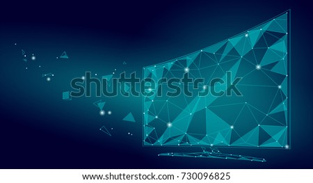 low poly smart tv screen video
