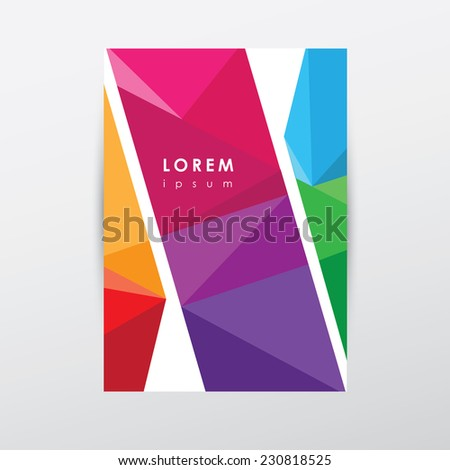modern colorful low poly style letterhead memorandum presentation, Low Poly Business Presentation Template, Presentation templates