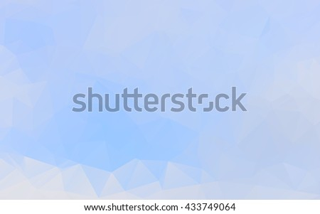 low poly summer blue sky  blue