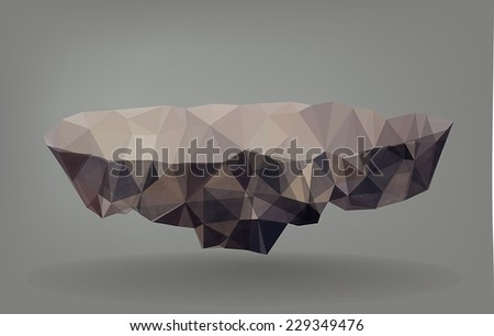 low poly vector illustration of
