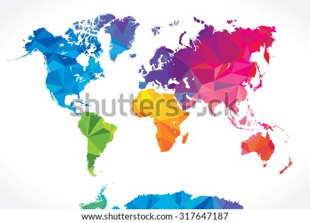 World map silhouette download free vector art stock graphics low poly world map gumiabroncs Images