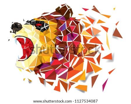 low polygon bear geometric