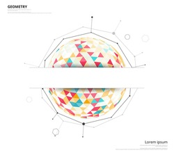 Low polygon. geometry polygon abstract banner. vector illustration