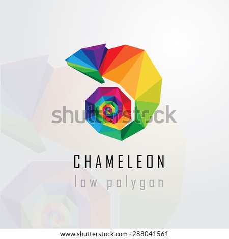 low polygon style abstract