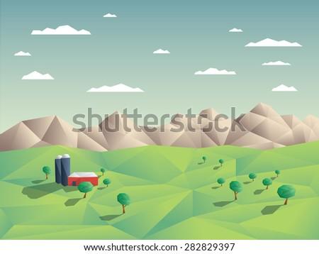 low polygonal farming