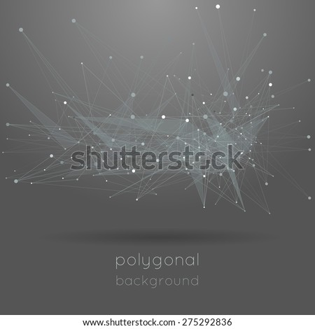 low polygonal gray background