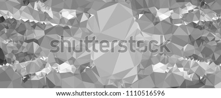 Low polygonal mosaic layout for horizontal banner, label, tag, flyer and abstract web background. Copy space. Vector clip art. #1110516596