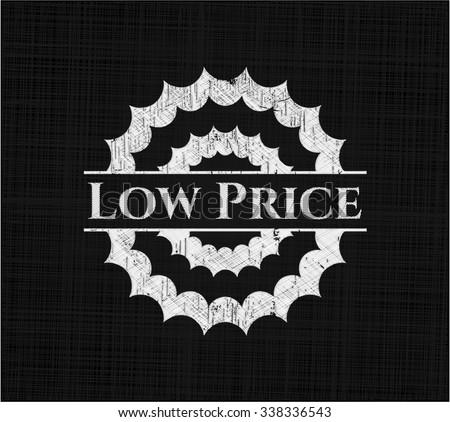 Low Price chalkboard emblem on black board