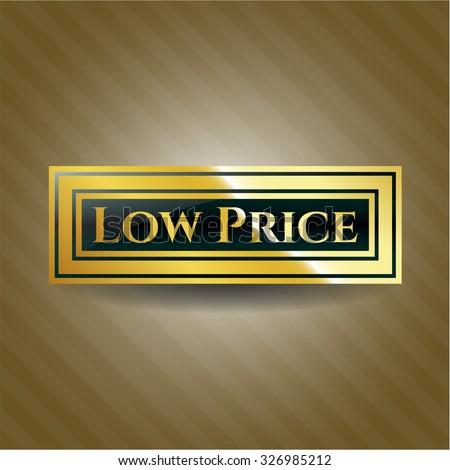 Low Price gold shiny emblem