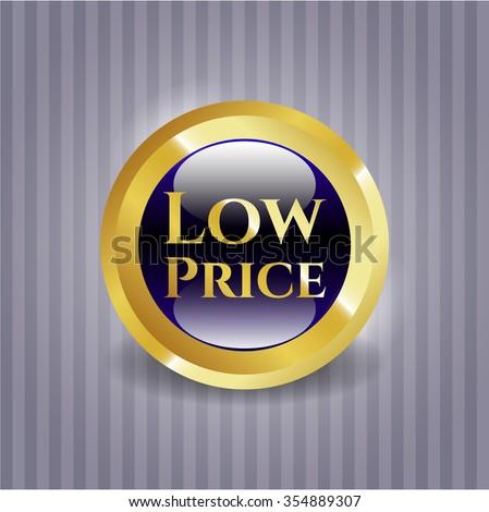 Low Price golden emblem