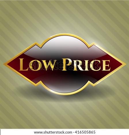 Low Price golden emblem or badge