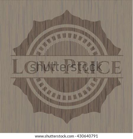 Low Price retro style wood emblem