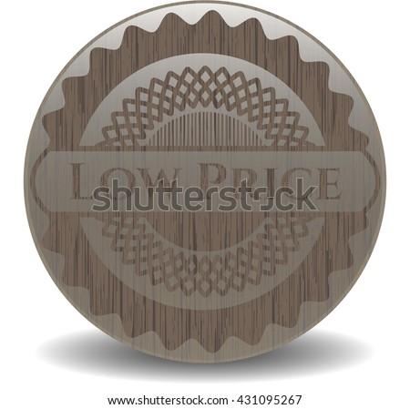 Low Price wood emblem. Retro