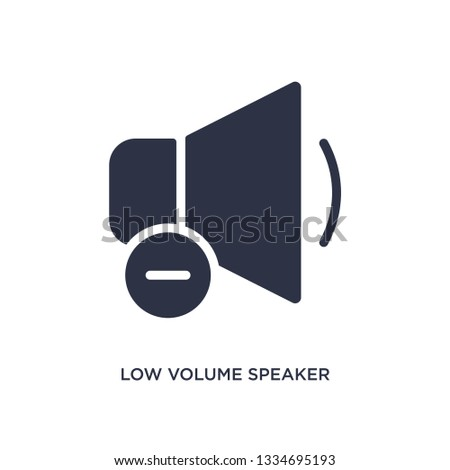 low volume speaker icon. Simple element illustration from music and media concept. low volume speaker editable symbol design on white background. Can be use for web and mobile.