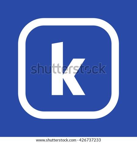 lower case letter k isolated