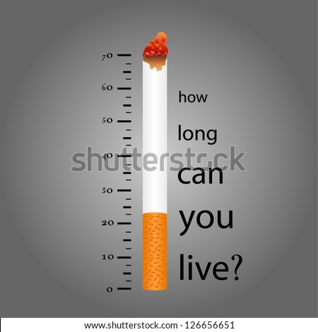 Lower levels of life on Cigarette Smoking.eps10