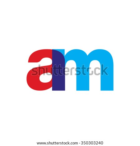 lowercase am logo  red blue