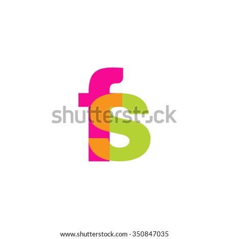 lowercase fs logo  pink green