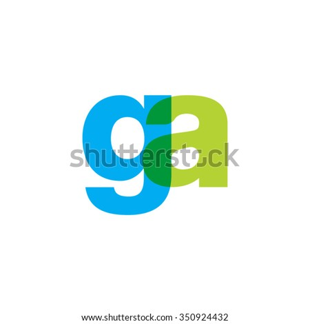 lowercase ga logo  blue green