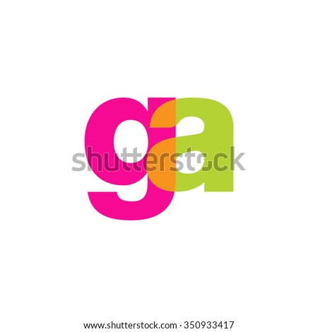 lowercase ga logo  pink green