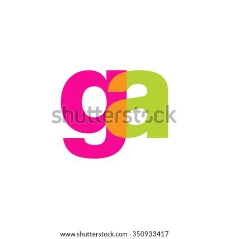 lowercase ga logo  pink green
