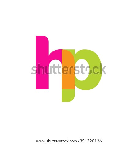 lowercase hp logo  pink green