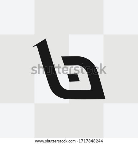 Lowercase Letter B Logo Template Vector. B monogram logo vector. B symbol vector. Stock fotó ©
