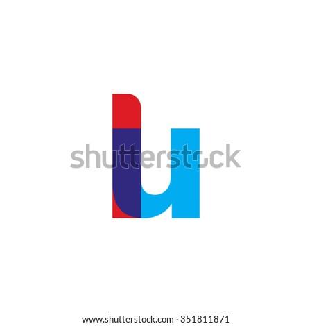 Lowercase Lu Logo Red Blue Overlap Transparent Logo Ez Canvas