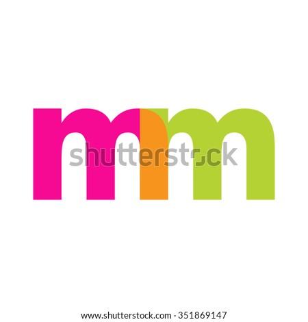 lowercase mm logo  pink green