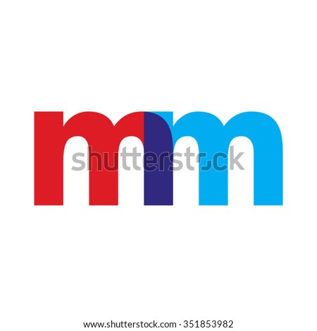 lowercase mm logo  red blue