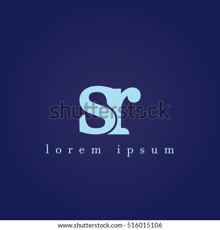 lowercase s and r vector logo