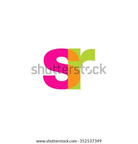 lowercase sr logo  pink green