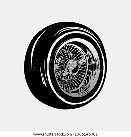 lowrider wheels vector
