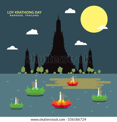 loy krathong day  bangkok