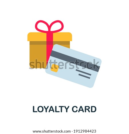 Loyalty Card flat icon. Color simple element from customer loyalty collection. Creative Loyalty Card icon for web design, templates, infographics and more Photo stock ©
