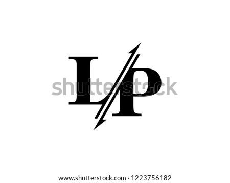 LP initials logo sliced Stock fotó ©