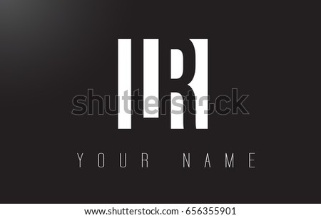 LR Letter Logo With Black and White Letters Negative Space Design.
