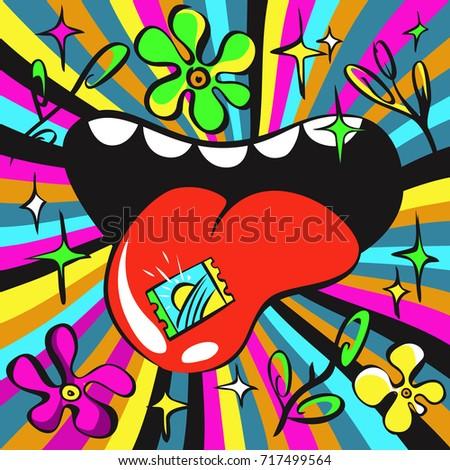 lsd psychedelic illustration