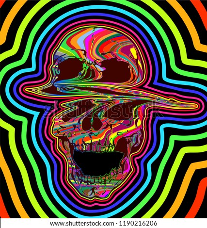 The Canvas Art Gallery Lsd Psychedelic Skull Vector