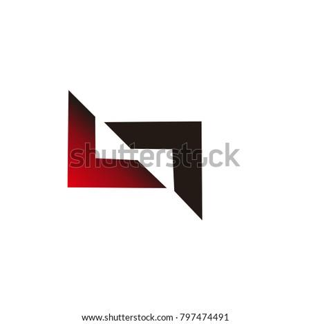 lt letter logo vector inspirations Stock fotó ©