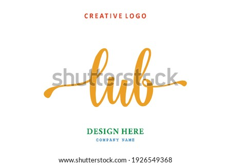 LUB lettering logo is simple, easy to understand and authoritative Zdjęcia stock ©