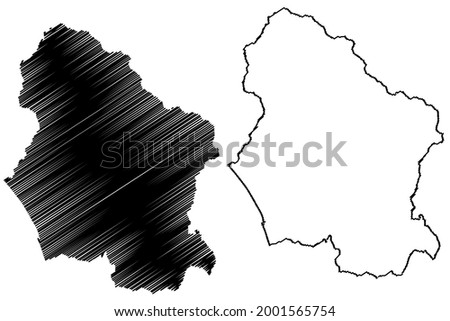 Lucca province (Italy, Italian Republic, Tuscany or Toscana region) map vector illustration, scribble sketch Province of Lucca map ストックフォト ©
