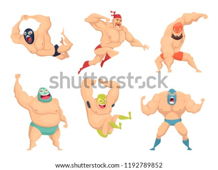 lucha libre characters mexican
