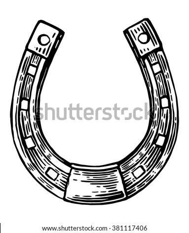 luck horseshoe. engraving...